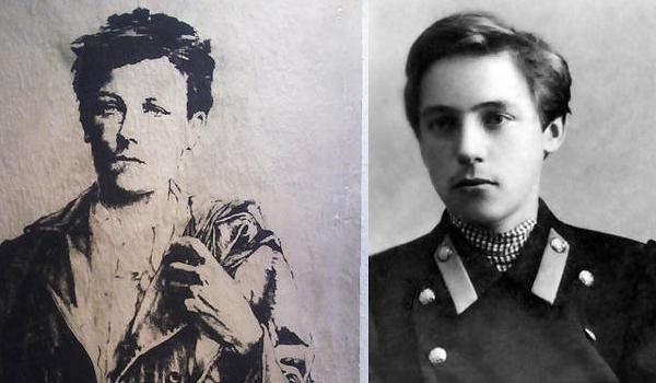 Артюр Рембо (слева) и Велимир Хлебников