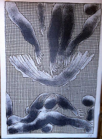 Илл.3 Из «Каталога…» - кто-то сбросил одежды. А может, «Рождение Венеры» по Цею.              1973. 20.5х14.5