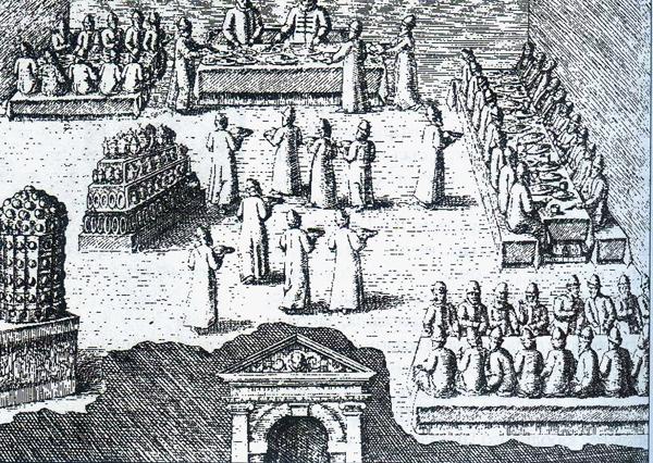 Пир опричников в Александровской слободе