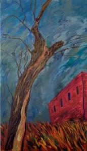 М.Кантор. Дом и дерево. 1999 г.