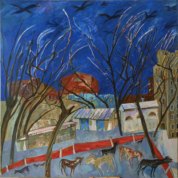 М.Кантор. 10 бездомных собак. 2002 г.