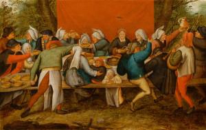 П.Брейгель мл. Свадьба. 1620 г.