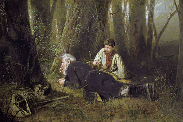 В.Перов. Птицелов. 1870 г.