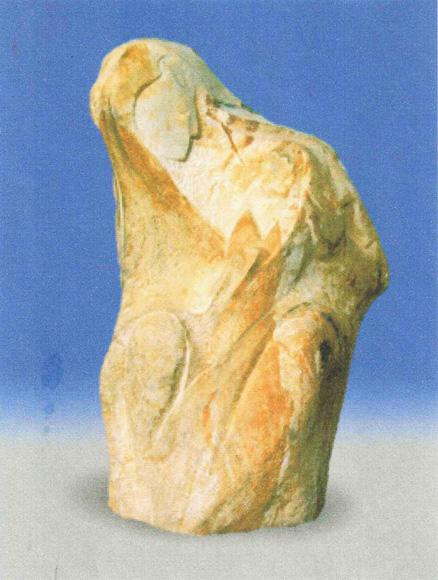 «Богородица с младенцем». Песчаник. 1998 г.