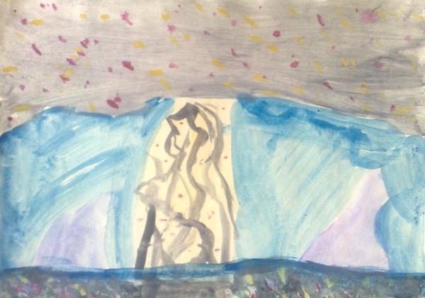 Скала с рисунками древних