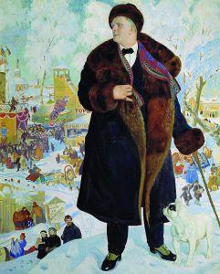 Б.Кустодиев. Портрет Шаляпина