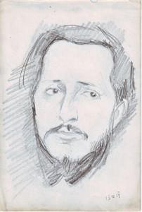 Худ. Н.Чернышёв. Портрет Дурылина