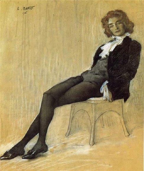 Л.Бакст. Портрет З.Гиппиус. 1906 г.