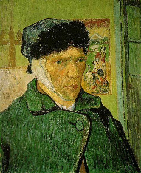 Ван Гог. Автопортрет с отрезанным ухом. 1889