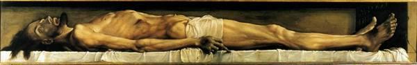 """Ганс Гольбейн Младший, """"Мертвый Христос в гробу"""", 1521-1522"""