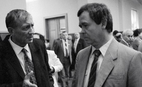 Евтушенко и В.Распутин, 1986 г.