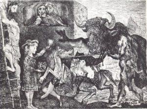 Минотавромахия. 1935. Офорт. 49,6?69,3