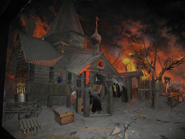 Диорама в музее пожарного дела