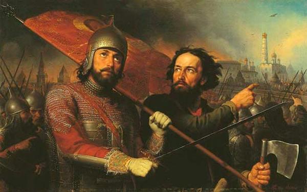 Минин и Пожарский. Картина М.Скотти, 1850