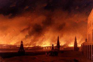 Пожар Москвы в 1812 г. И.Айвазовский