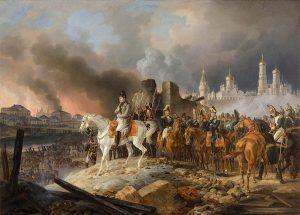 Наполеон в горящей Москве. Альбрехт Адам