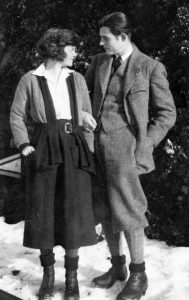 Hadley and Ernest Hemingway in Switzerland, 1922