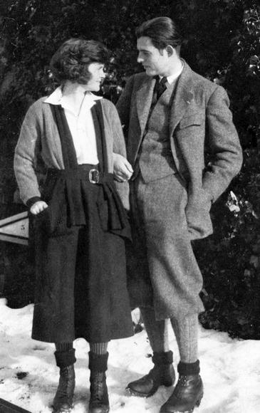 Hadley and Ernest Hemingway in Switzerland, 1922