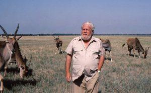 Джеральд Даррелл в заповеднике Аскания-Нова, СССР, 1985 г.