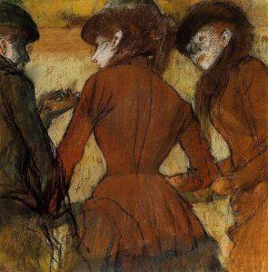 Три женщины на скачках, 1885
