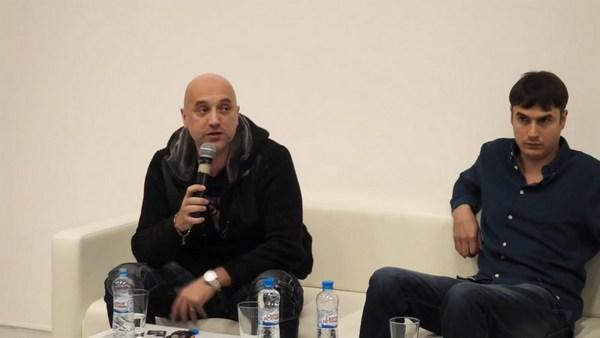 Прилепин и Шаргунов в дискуссионном клубе «Тренд»
