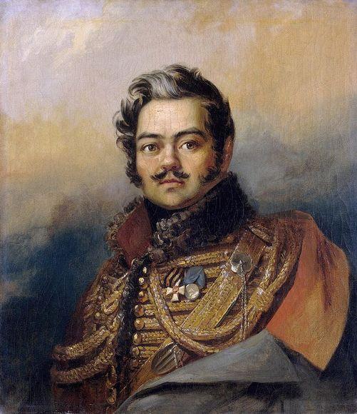 Портрет Дениса Давыдова. Мастерская Дж. Доу. 1828 г.