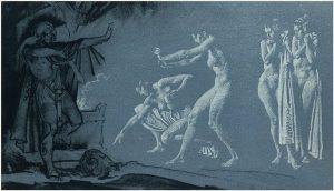 Одиссей в царстве Аида. Уильям Флинт
