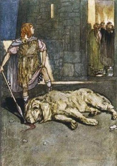 Кухулин, сразивший пса Кулана. Стивен Рейд