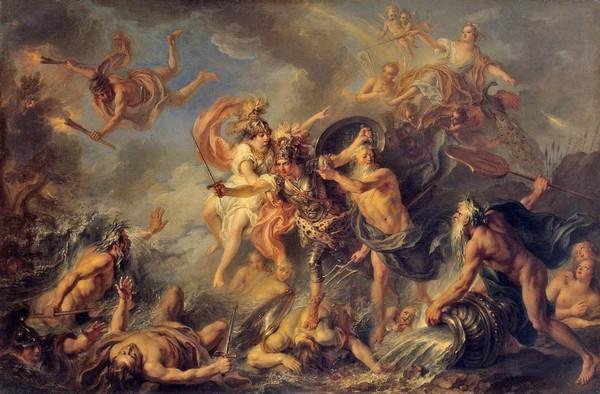 Гнев Ахилла. Шарль Антуан Куапель. 1737