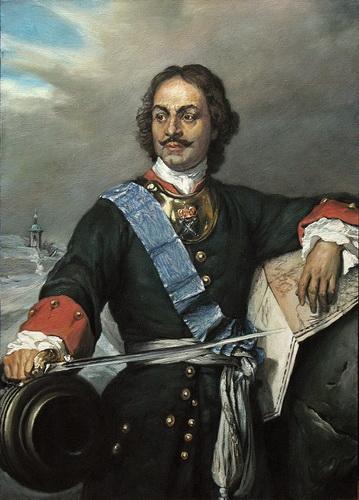 Петр I в форме офицера Лейб-гвардии Преображенского полка