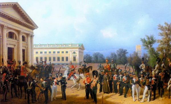 Франц Крюгер. Русская гвардия в Царском Селе в 1832 году