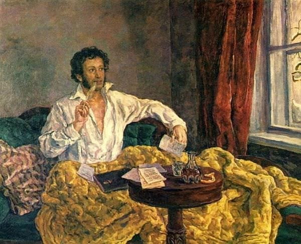 Пушкин в Михайловском. Картина Петра Кончаловского