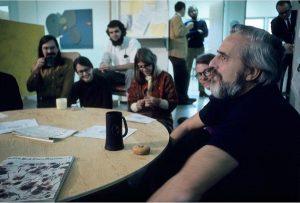 Энгельбарт с коллегами из ARC. Видимо, 70-е