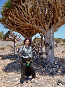 В роще драконовых деревьев на плато Диксум, о. Сокотра. Весна 2019