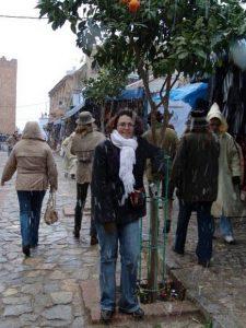 В Африке тоже идёт снег. Площадь Ута аль-Хаммам, Шефшауэн, Марокко, зима 2007