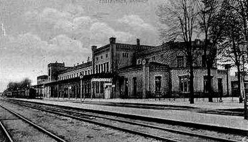 Пограничная с Россией железнодорожная станция Эйдкунен