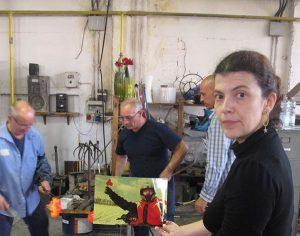 Производство выставки «Русская душа», 2011, стеклодувня Berengo, Мурано, Италия