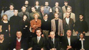 Выпуск курса Анджея Вайды, 1997 г., Краков, Т.Данильянц во втором ряду третья слева
