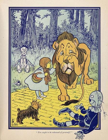 Одна из знаменитых илл. к книге Баума. Автор: W.W.Denslow