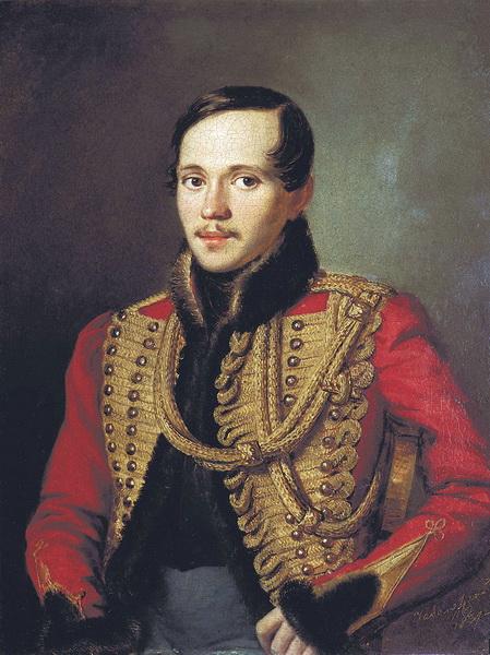 Лермонтов в ментике лейб-гвардии Гусарского полка. Картина Петра Заболотского (1837)