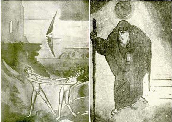 Таро, нарисованные русским художником Василием Масютиным (1884—1955)