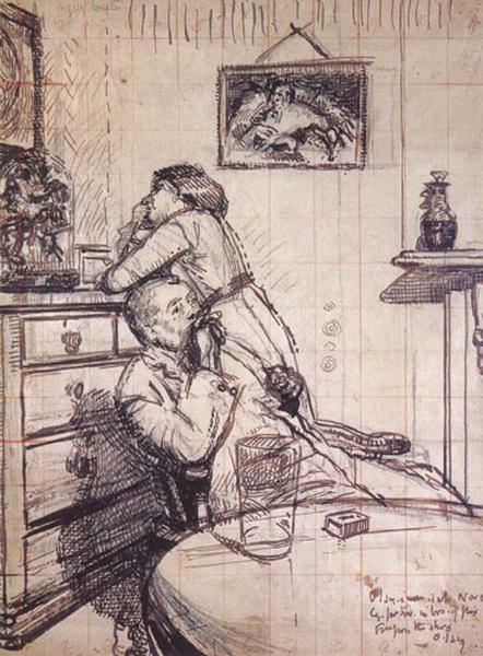 Уолтер Ричард Сиккерт. Скука. Набросок, около 1914 г.