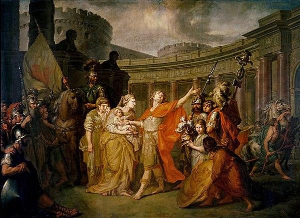 А.Лосенко. Прощание Гектора с Андромахой. 1773