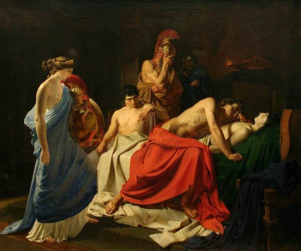 Н.Ге. «Ахиллес, оплакивающий Патрокла», 1855