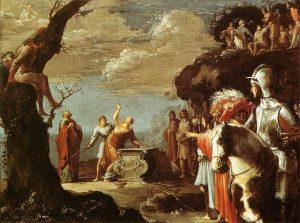Жертвоприношение Ифигении, Леонард Брамер, 1623