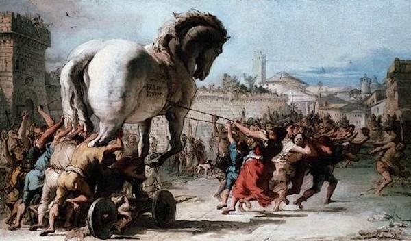 Троянский конь, Джованни Доменико Тьеполо