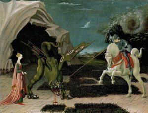 Паоло Уччелло. Битва Св. Георгия со змеем