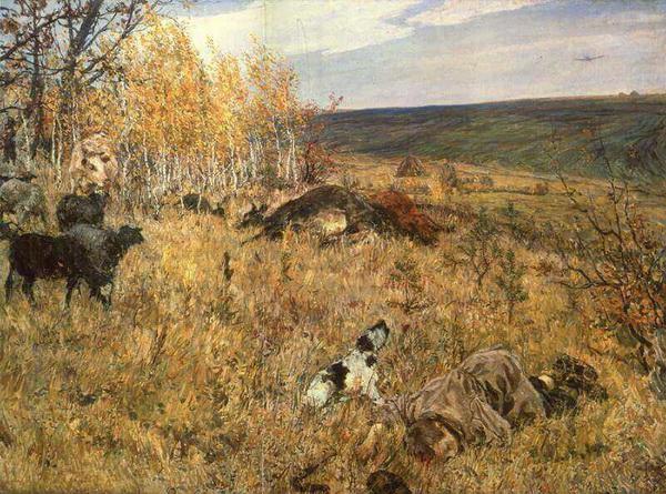 Аркадий Пластов. Фашист пролетел