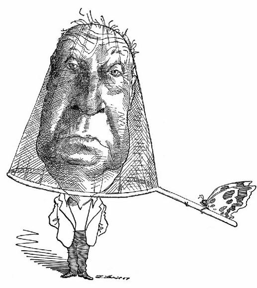 Карикатура на Набокова Дэвида Ливайна (David Levine)