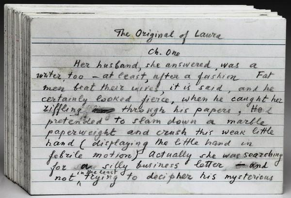 """Рукопись в карточках """"The Original of Laura"""""""